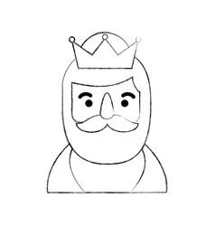 Manger wise king portrait christmas celebration vector