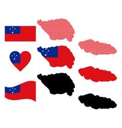 Map of samoa vector