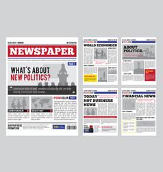 Newspaper design template vector