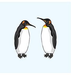 Penguin family family of birds emperor penguin vector