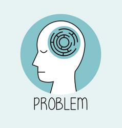 profile human head problem vector image