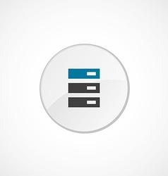 Server icon 2 colored vector