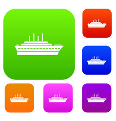 ship set collection vector image