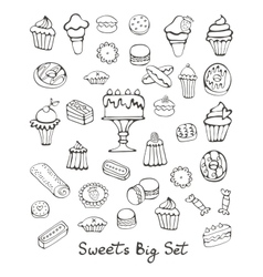 Sweets big set vector image vector image