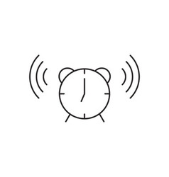 Time clock icon outline vector