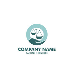 unique attorney and law logo template vector image vector image