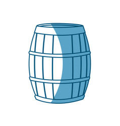 Wine barrel wooden conatiner shadow vector
