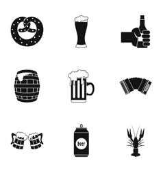 Alcoholic beverage icons set simple style vector