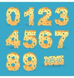 Cheese alphabet set vector image
