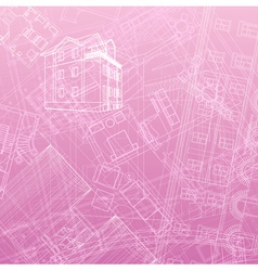Abstract architectural background vector