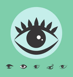 Simple eye icon isolated vector