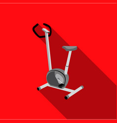 Exercise bike icon flate single sport icon from vector