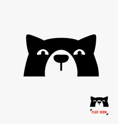 Dog head icon vector