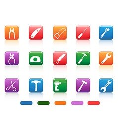 Handwork tools icons button vector