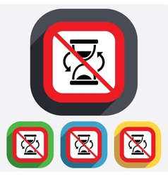 No time hourglass sign icon sand timer symbol vector