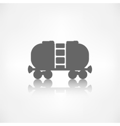 Oil tank icon vector