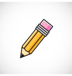 pencil symbol icon vector image