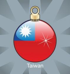 Taiwan flag on bulb vector image