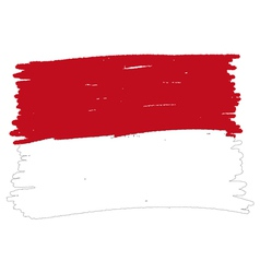 Flag of monaco handmade vector