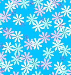 Fun seamless flower pattern vector