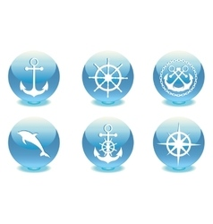 Marine set vector