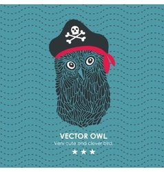 Captain pirate owl vector