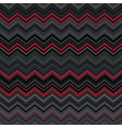 Abstract black red and grey zig-zag warped vector