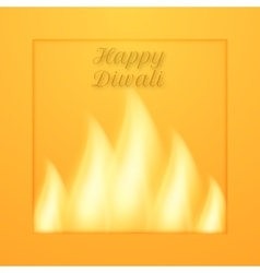 A happy diwali day vector