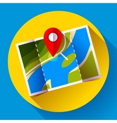 Pin on the map icon vector
