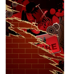 Torn musical poster vector