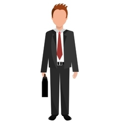 Avatar business man front view graphic vector