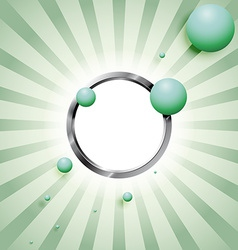 Balls and the metal ring vector image vector image