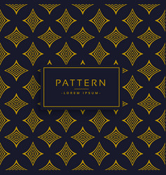 black and gold premium pattern design background vector image vector image