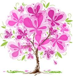 Blossom tree design vector