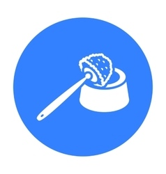 Brush for toilet black icon for web vector