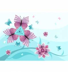 Butterfly flower vector