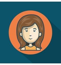 cartoon girl character web graphic vector image