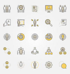 colorful human resources icons vector image vector image