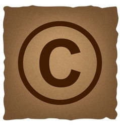 Copyright sign vintage effect vector