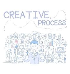Creative process handdrawn vector
