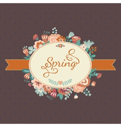 Cute floral bouquets in vintage style vector