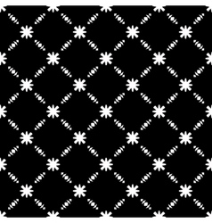 Elegant black and white flower seamless pattern vector