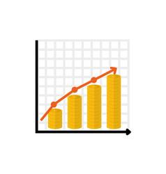 Financial growth symbol vector