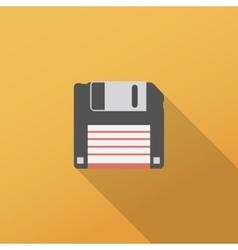Floppy disk icon vector
