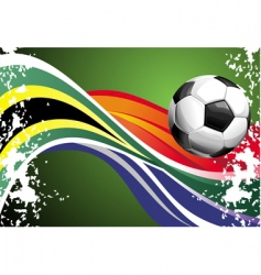 football poster with national flags vector image vector image
