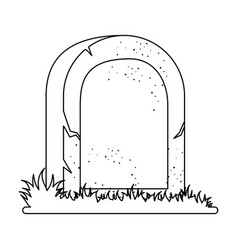 Grave of dead icon vector