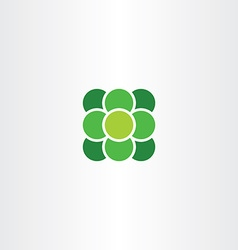 Green atom suqare with circle logo icon vector