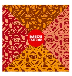 grilled meat seamless patterns vector image vector image