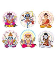 indian god hinduism godhead of goddess and vector image