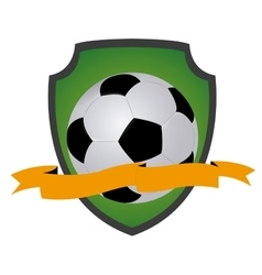 Isolated soccer emblem vector image vector image